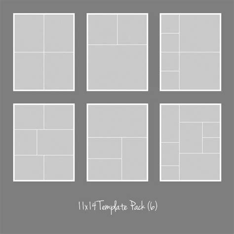 11x14 Photo Template Pack Collage Photographers Storyboard Collage Template