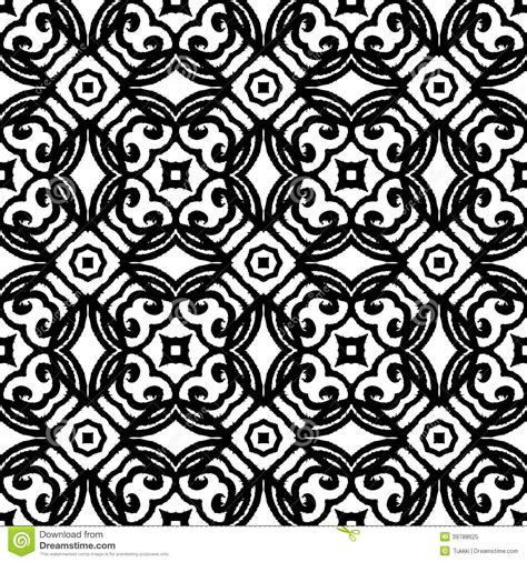 vintage pattern black and white vector vintage vector art deco pattern in black and white stock