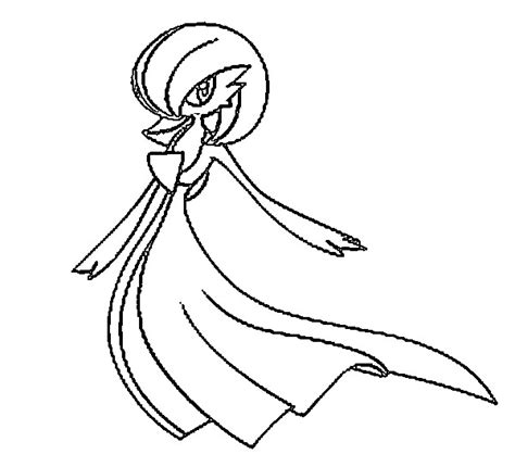 pokemon coloring pages gallade free coloring pages of gallade gardevoir