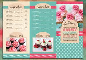 cupcake menu template 14 great tri fold restaurant menu psd templates design