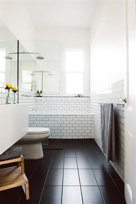 white bathroom black floor do s don ts for decorating with black tile maria