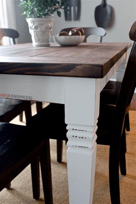 diy farm table legs diy farmhouse table free plans rogue engineer