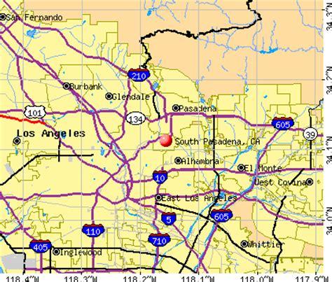 map of california pasadena pasadena california map
