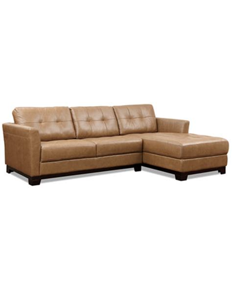 macys leather sectional sofa martino leather chaise sectional sofa 2 apartment