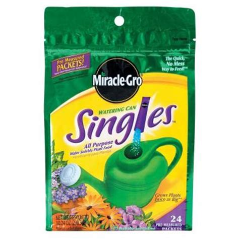 flower food packets miracle gro watering can singles water soluble plant food