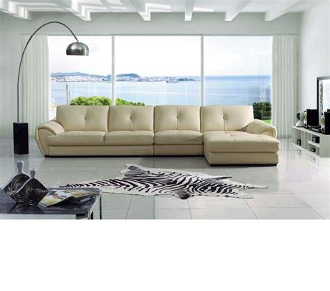 cream leather sectional sofa dreamfurniture com modern cream leather sectional sofa