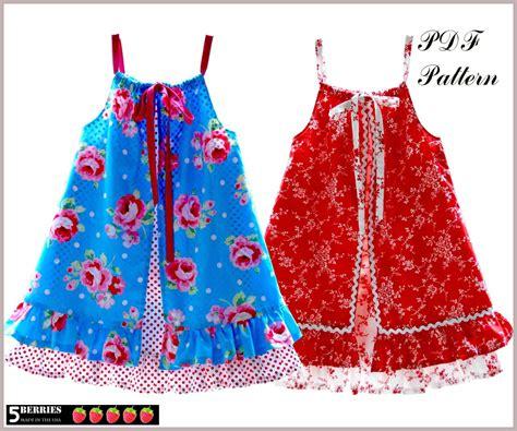 penelope pillowcase girls dress pattern free mother daughter