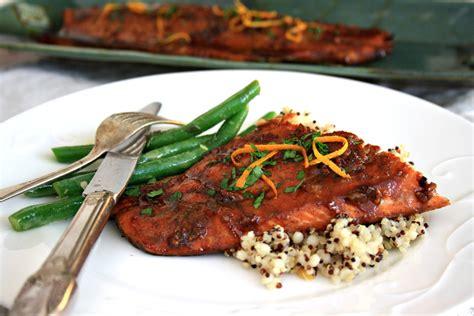 salmon dinner menu recipe for five spice glazed salmon is dinner