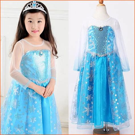 Dress Anak Scuba Frozen 2018 100cm 140cm children elsa costume frozen elsa dress and autumn sleeve