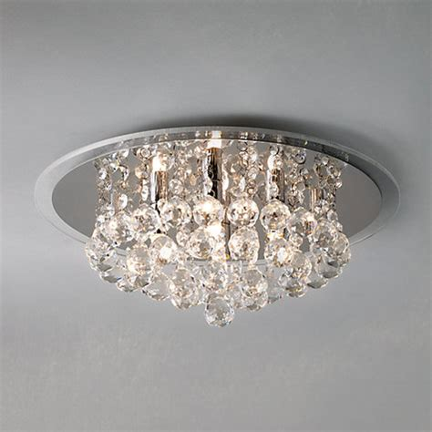 buy lewis belinda flush ceiling light chrome