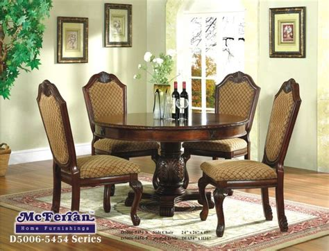 round formal dining room tables mcferran home furnishings brown round formal dining