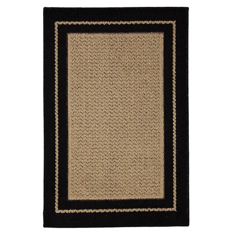 mohawk accent rugs mohawk home marlow black aureo 2 ft x 3 ft accent rug 357696 the home depot
