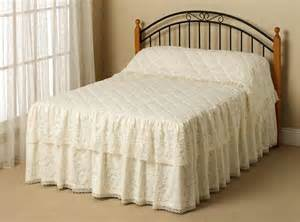 Buy Bedspread Donna Skirted Lace Reversesham Bedspread Buy