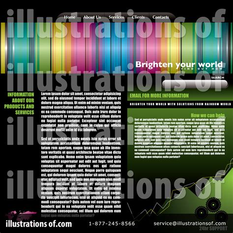 royalty free website templates website template clipart 71434 illustration by