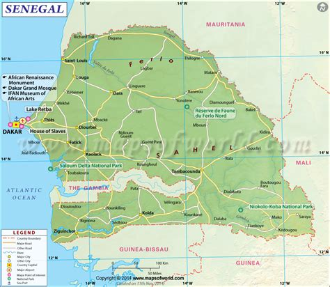 travel directions and map senegal map