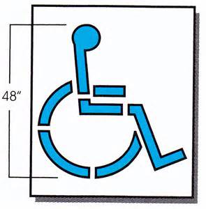 disabled parking template handicap gif images