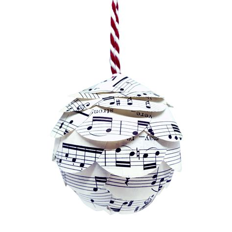 music christmas ornaments up cycled sheet music by joshua