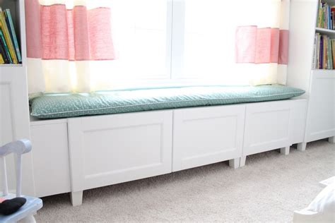 ikea window bench hack besta window seat for little girl room ikea hackers