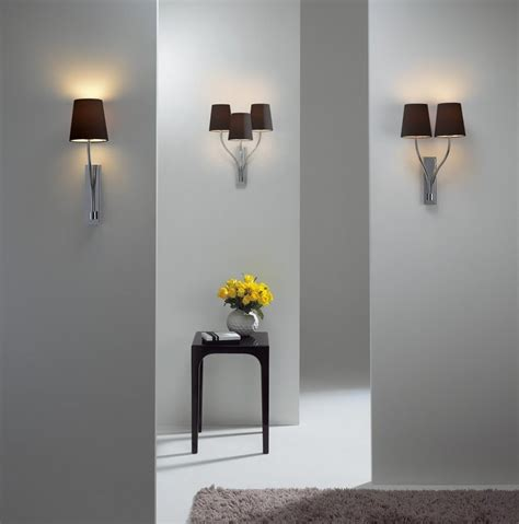 hotel guest bedroom wall light simple switched modern elegant wall bracket light in chrome triple