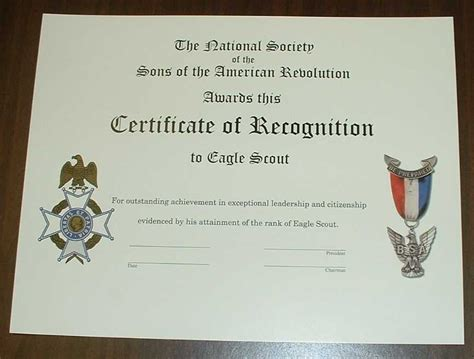 eagle scout certificate template printable eagle scout certificate template just b cause