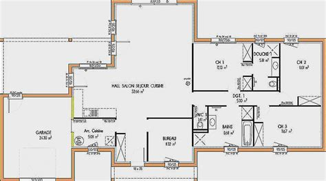 Plan Maison étage 4 Chambres 4289 by Plan Maison Etage 4 Chambres 1 Bureau Luxe Plan Maison