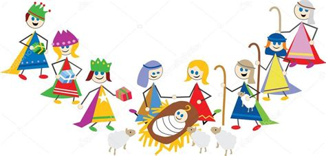 presepe clipart presepe bambini fumetto vettoriali stock 169 prawny 64288497