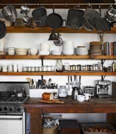 Vintage home love rustic open kitchen shelving