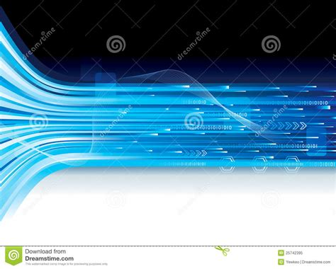 Tech Connection Banner Stock Vector Illustration Of Template 25742395 Technology Banner Template
