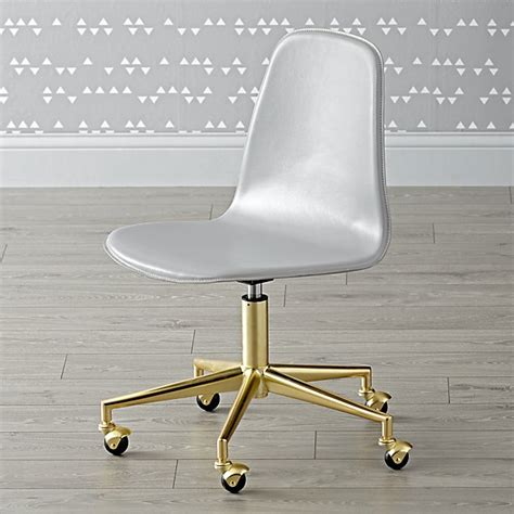 grey and gold desk class act light grey gold desk chair the land of nod