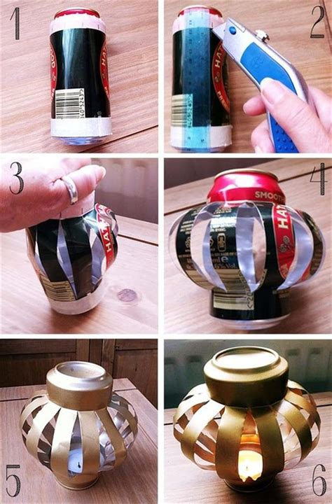soda can crafts for diy crafty ideas soda can lantern dump a day