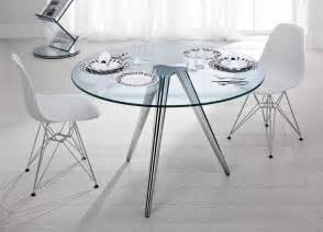 Glass Circular Dining Table Tonelli Unity Glass Table Glass Dining Tables