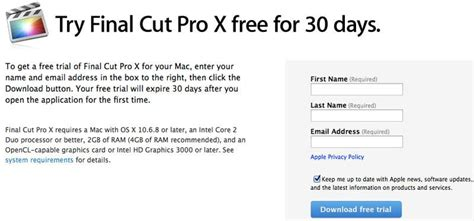 final cut pro x trial apple updates final cut pro x with requested features