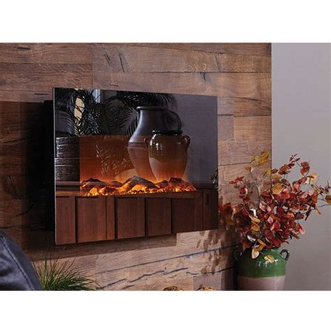 onyx electric fireplace touchstone mirror onyx 50 inch electric wall mounted