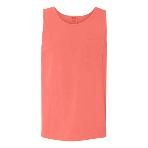 Neon Orange Comfort Colors by Comfort Colors S Neon Orange 6 1 Oz Pocket Tank