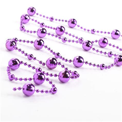 purple metallic globe bead garland christmas garlands