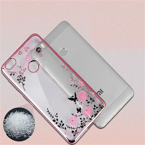 Glow In The Flower Xiaomi Note 4x Free Tempered Glass for xiaomi mi5 picture more detailed picture about luxury soft silicon cover for
