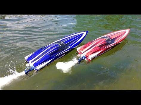 Racer Rc Kapal Speed Boat Biru Mainan Anak Remote kapal air mainan videolike