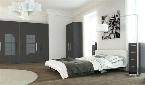 High Gloss Metalic Grey The Cheshire Bedroom Company