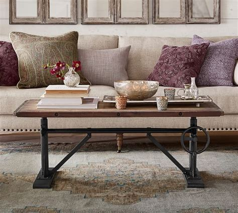 pottery barn coffee table pittsburgh crank coffee table pottery barn