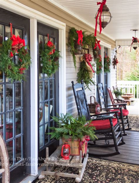 christmas patio decorating far above rubies country porch
