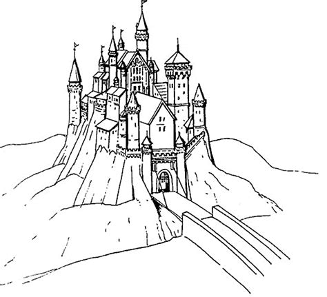 coloring page castle castle coloring pages coloringpagesabc