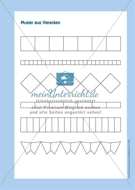 Muster Zeichnen Grundschule Muster Die Vorform Der Ornamente Mit Mustern Aus