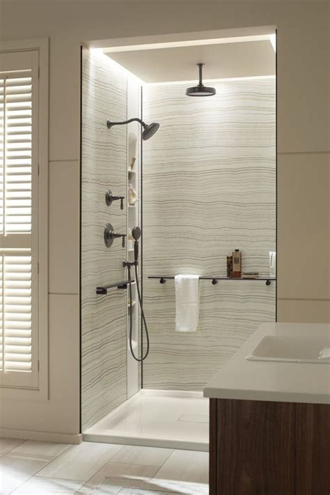 Bathroom Wall Paneling Ideas 25 Best Ideas About Shower Wall Panels On Rooms Faux Wall Panels And