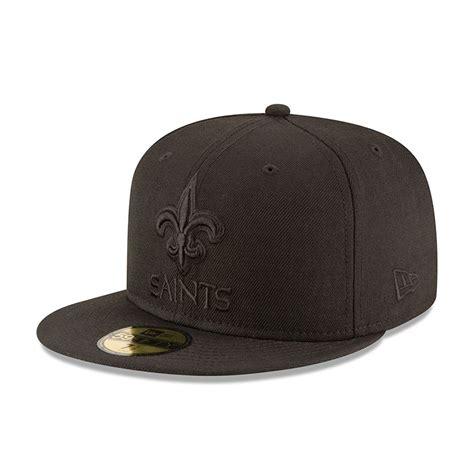 new era black on black 59fifty new orleans saints black on black new era