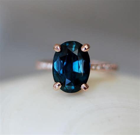blue green sapphire engagement blue sapphire ring blue green sapphire engagement