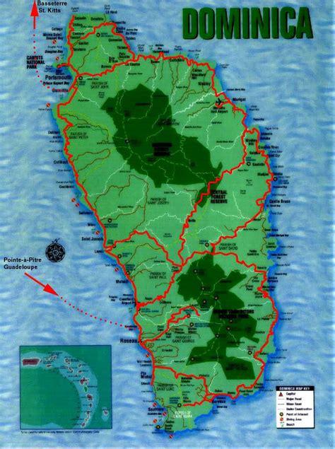 dominica on a map worldrecordtour america caribbean dominica