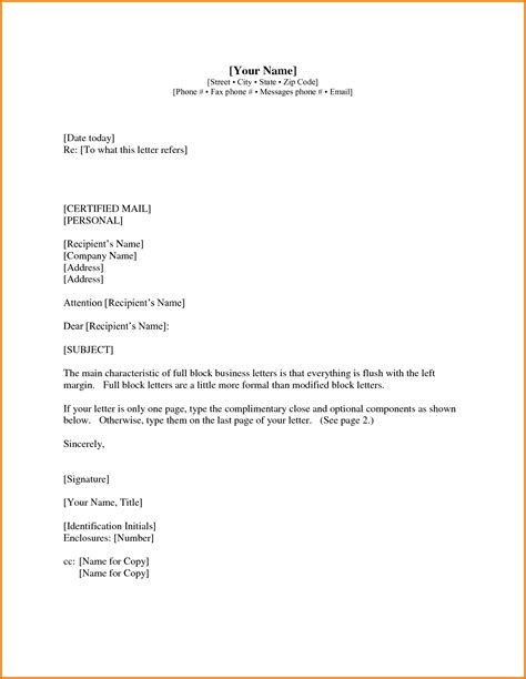 Official Letter Format With Subject 7 Formal Letter Format With Subject Financial Statement Form