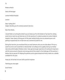 Thank You Letter After For Office Assistant 7 Sle Thank You Letter Free Sle Exle Format