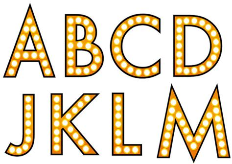 printable marquee letters illuminated sign marquee alphabet letters dadartdesign blog