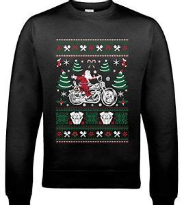 Indian Motorrad Ebay by Biker Santa D1 Herren Lustige Weihnachten Pullover
